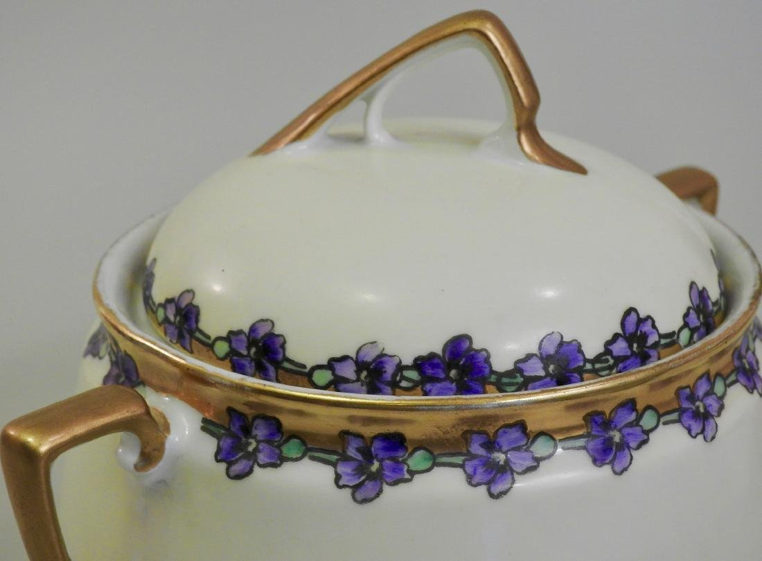 Antique KPM Painted Porcelain Art Nouveau Tureen - 5