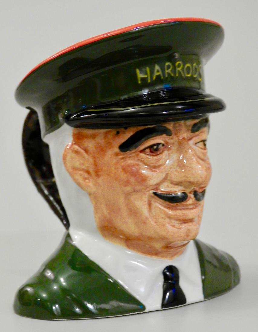 Harrods Carlton Ware Figural Head Jug Doorman Character