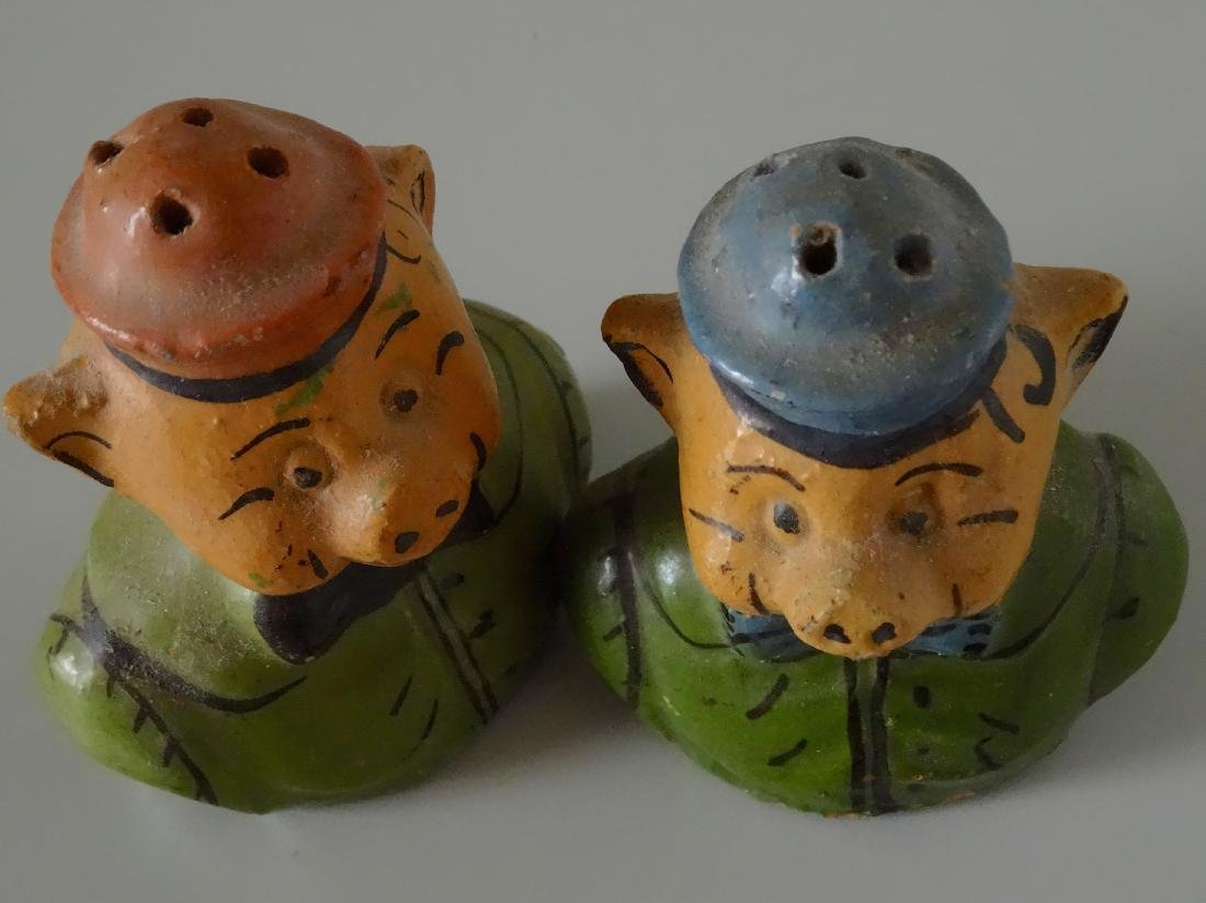 Piglets Pig Vintage Mexican Painted Earthware Salt - 2