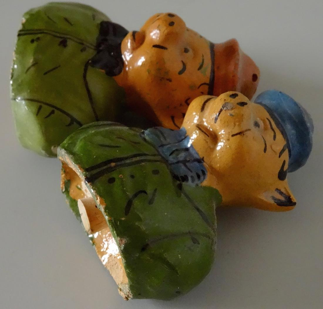 Piglets Pig Vintage Mexican Painted Earthware Salt - 4