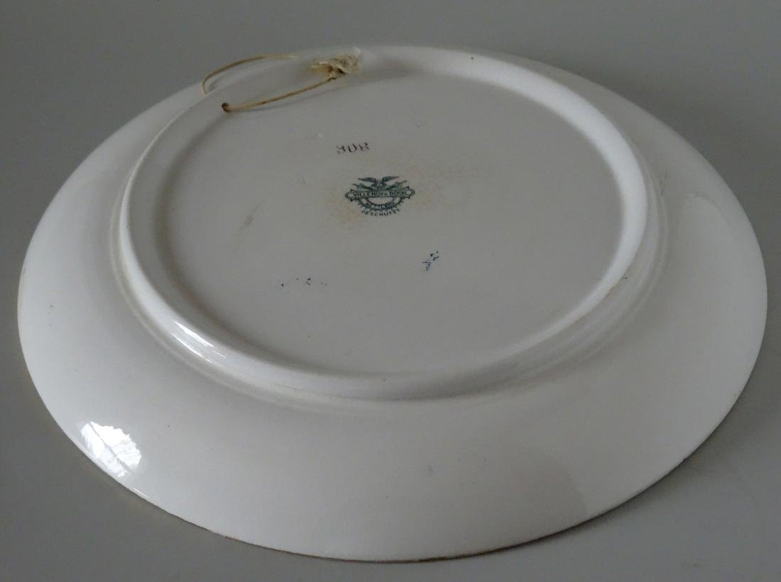 Large Mettlach Villeroy And Boch Dutch Charger Wall - 7