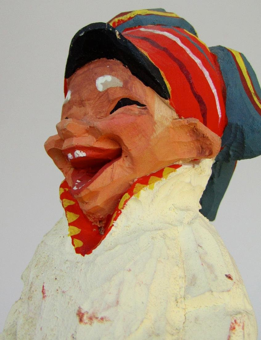 Vintage Henning Norway Carved Folk Troll Figurines Pair - 7