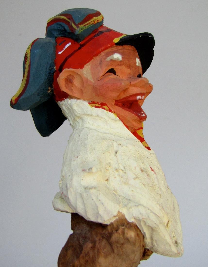 Vintage Henning Norway Carved Folk Troll Figurines Pair - 8