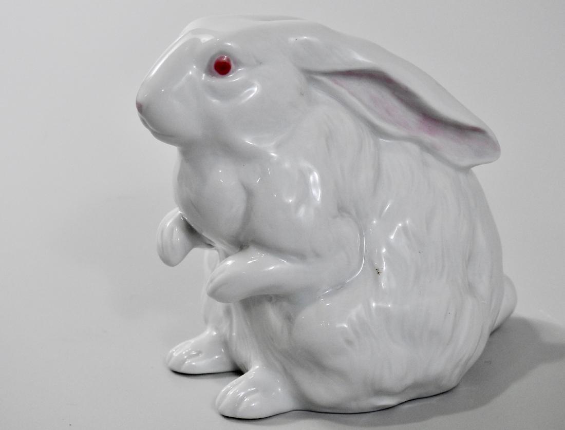 Vintage White Bunny Figurine Easter Decor