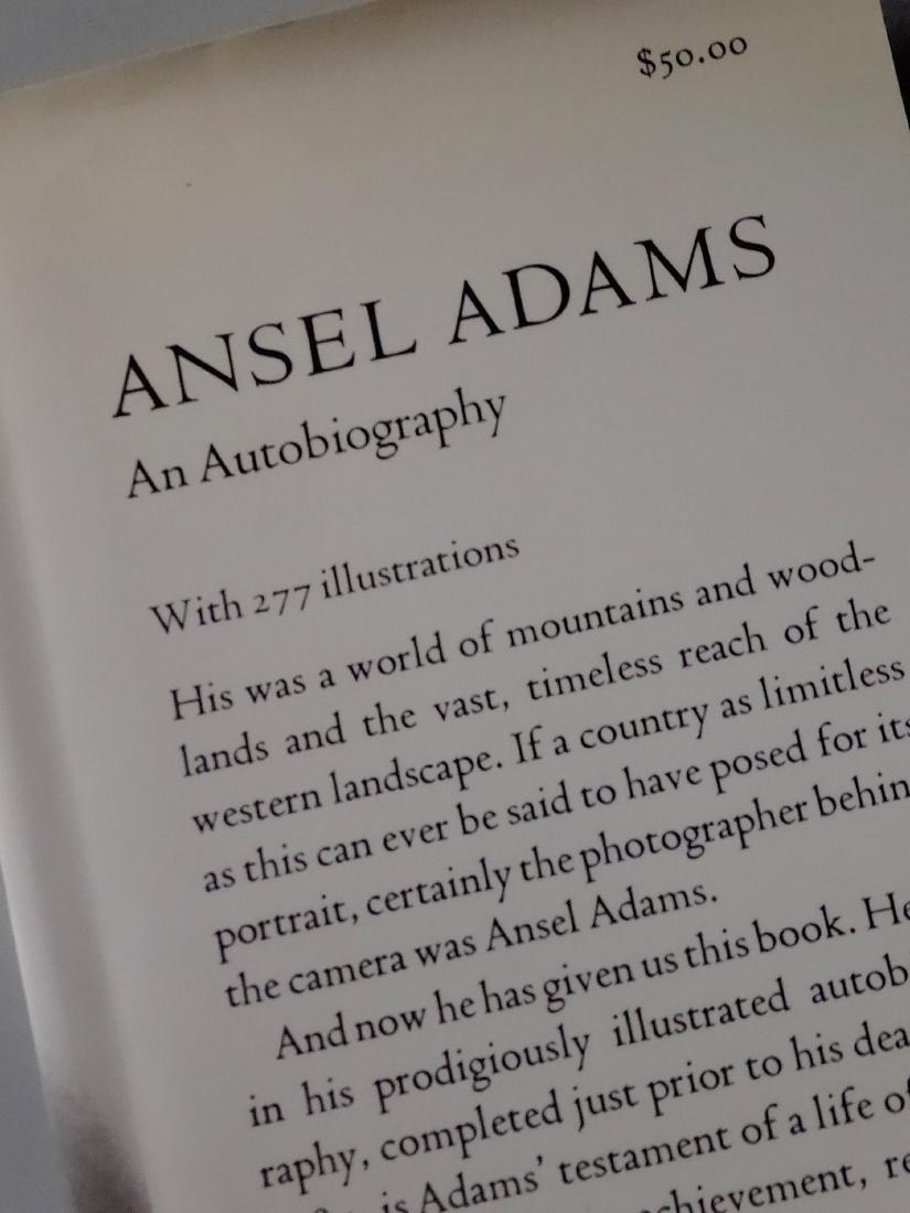 Ansel Adams An Autobiography Book 277 Illustrations - 2