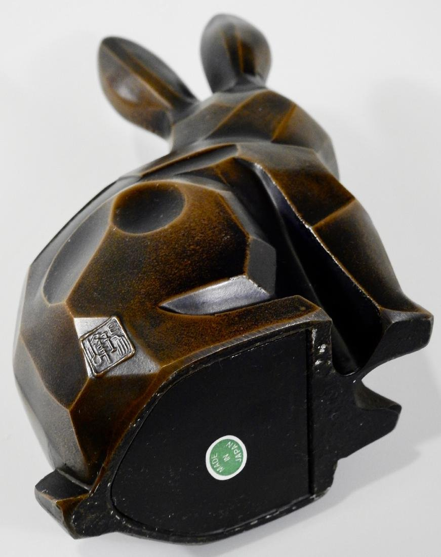 Cubist Modern Abstract Bronzed Spelter Bunny Rabbit - 5
