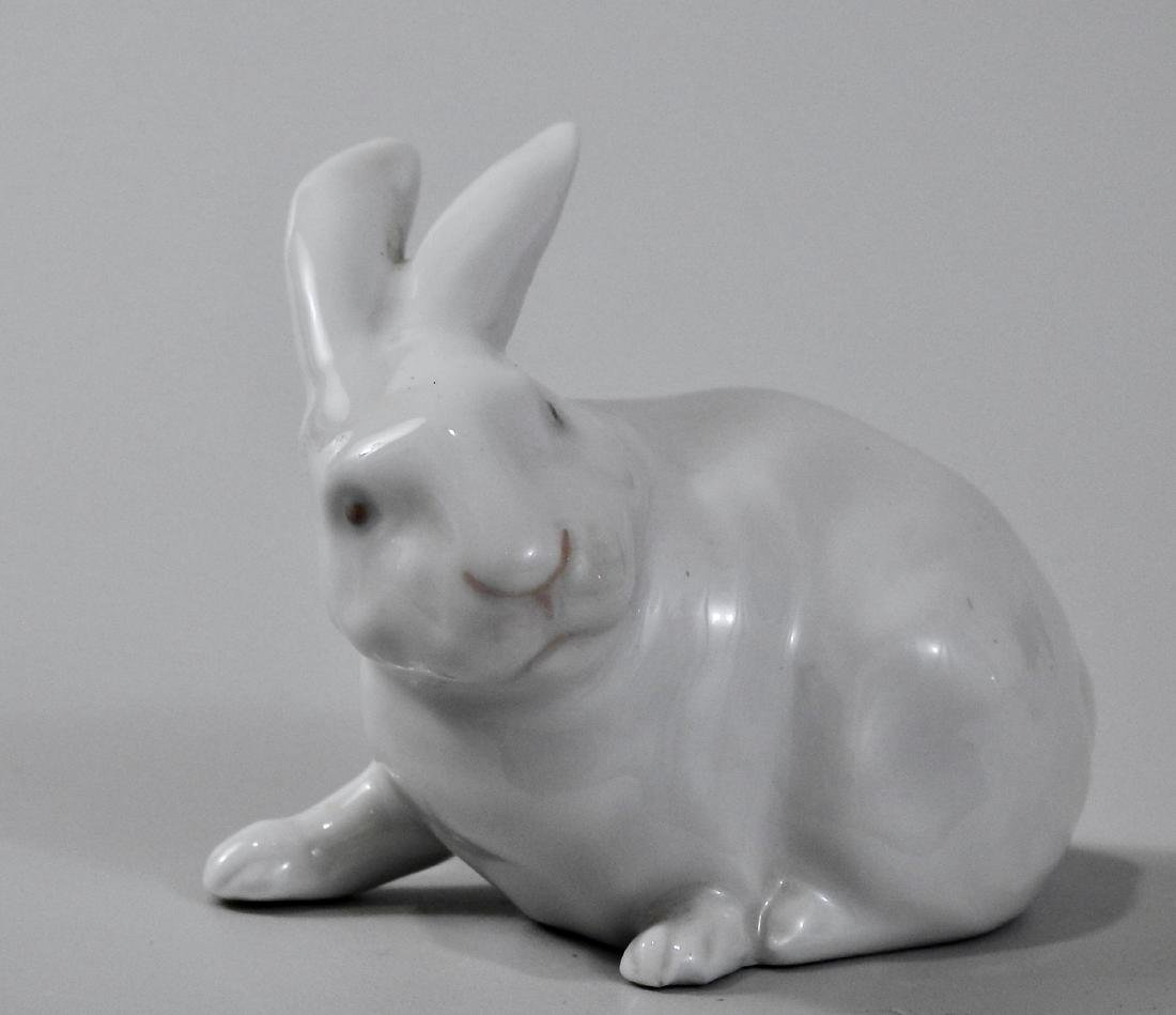 Royal Copenhagen Porcelain Rabbit Bunny Figurine - 2