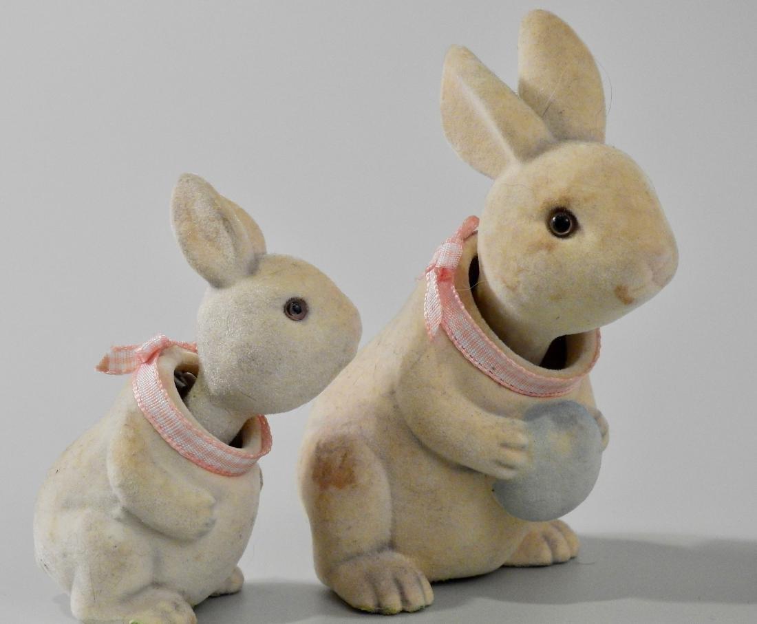 Easter Bunny Glass Eyes Nodder Bobble Head Articulated