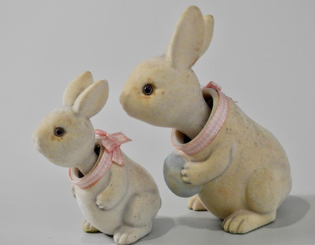 Easter Bunny Glass Eyes Nodder Bobble Head Articulated - 2