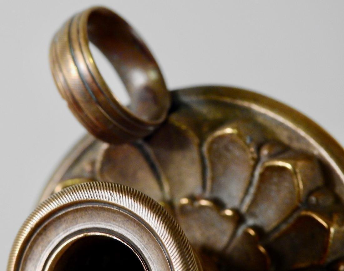 Antique c 1820 Bronze Candleholder Chamberstick - 2