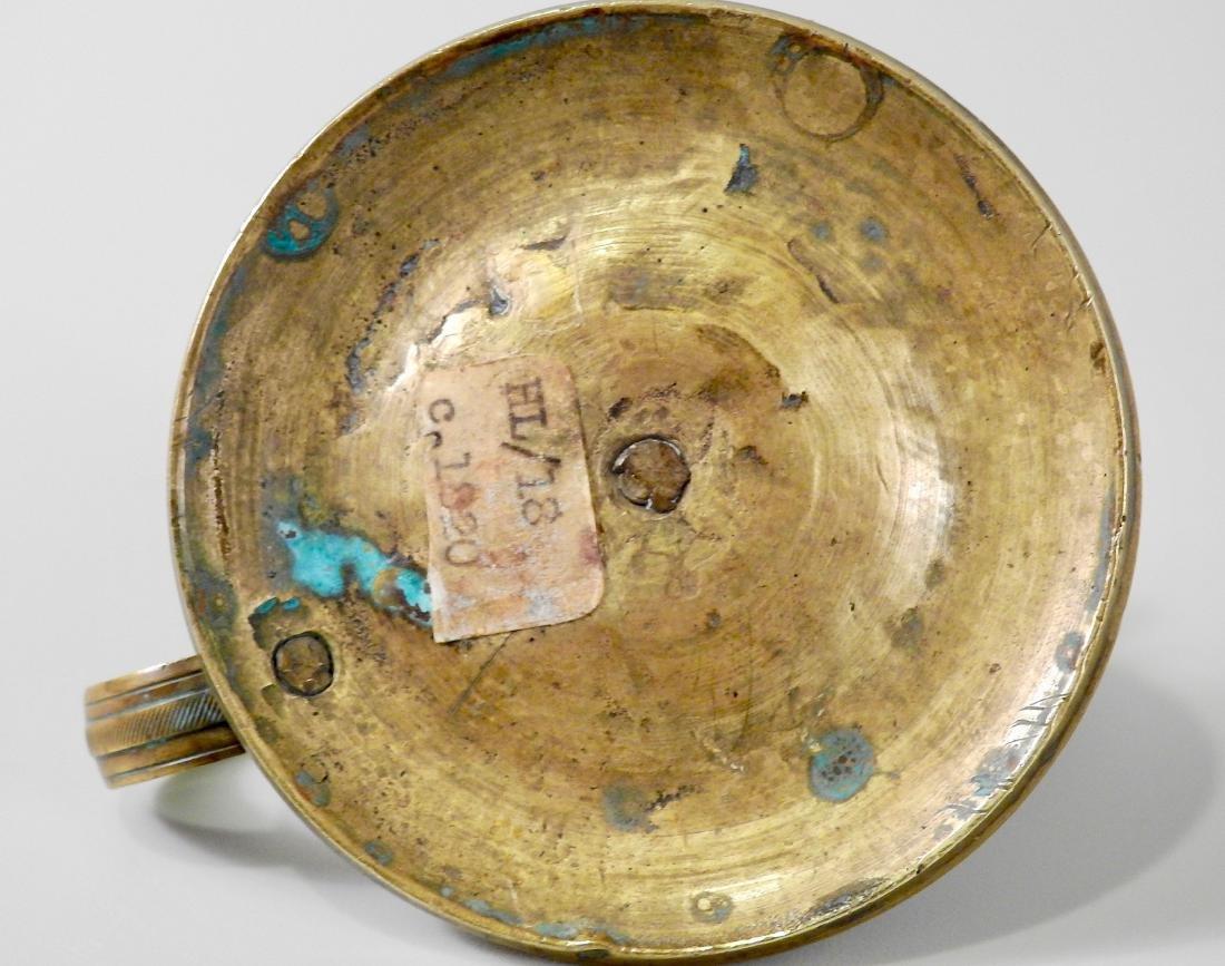 Antique c 1820 Bronze Candleholder Chamberstick - 3