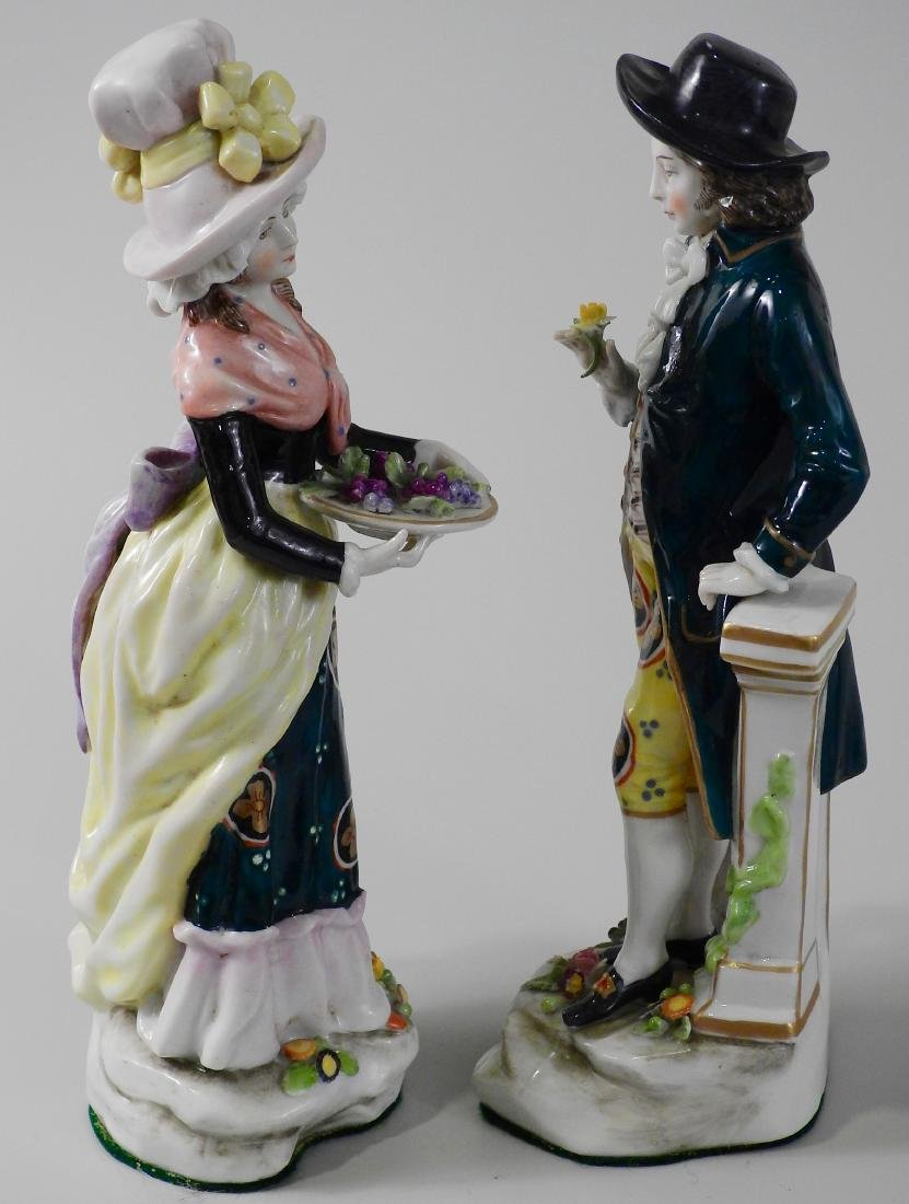 Pair Antique c1765 Chelsea Derby Period Porcelain - 2