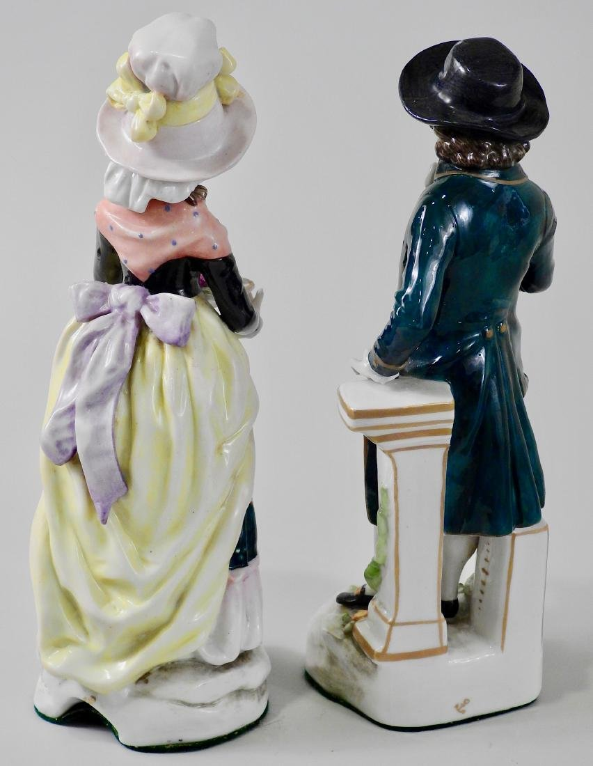 Pair Antique c1765 Chelsea Derby Period Porcelain - 3