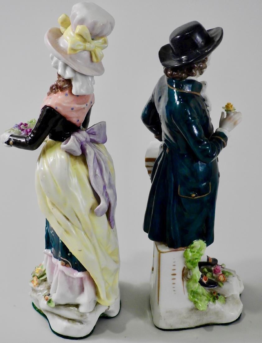 Pair Antique c1765 Chelsea Derby Period Porcelain - 4