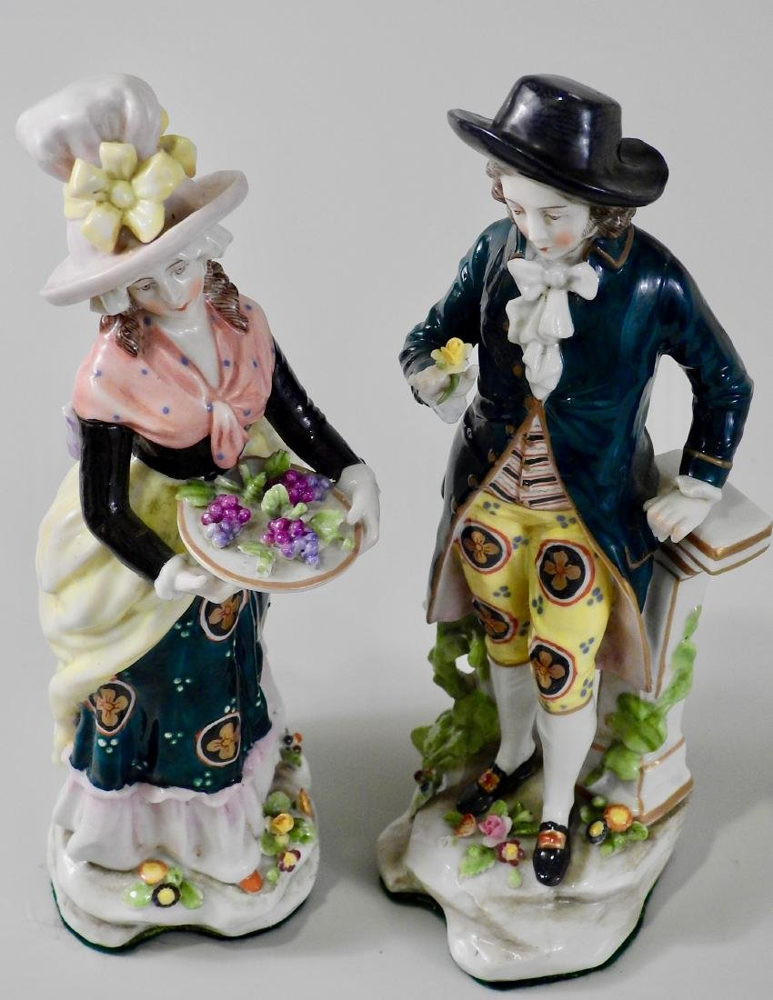 Pair Antique c1765 Chelsea Derby Period Porcelain - 5