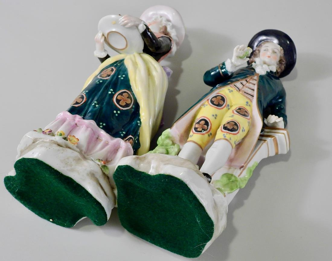 Pair Antique c1765 Chelsea Derby Period Porcelain - 8