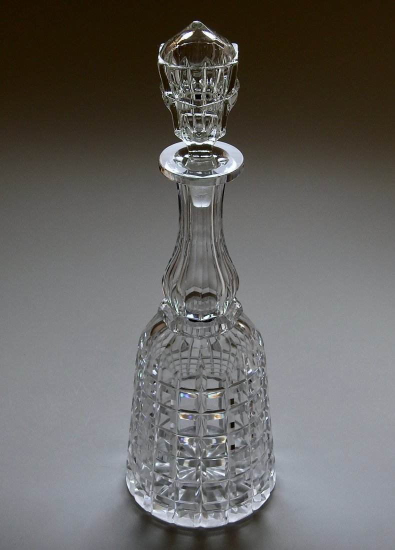 Antique 19thth century Cut Glass Crystal Liquor Decante