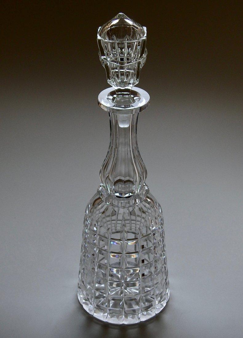 Antique 19thth century Cut Glass Crystal Liquor Decante