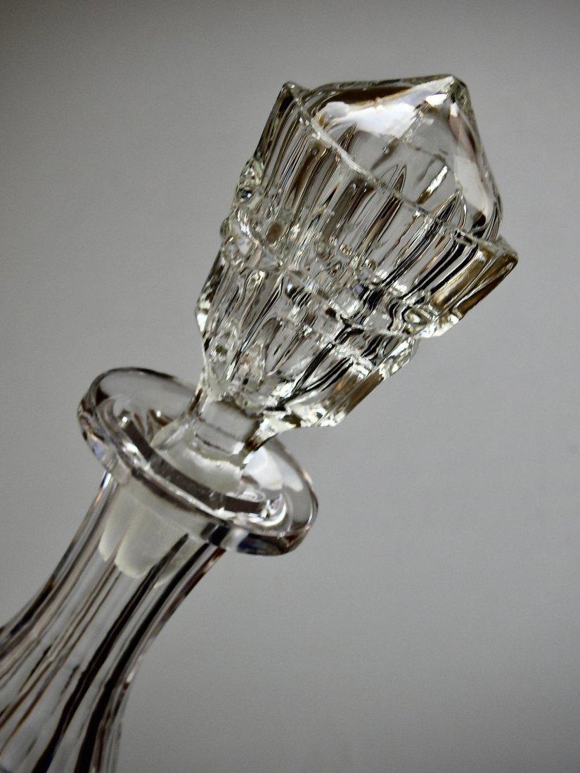 Antique 19thth century Cut Glass Crystal Liquor Decante - 3