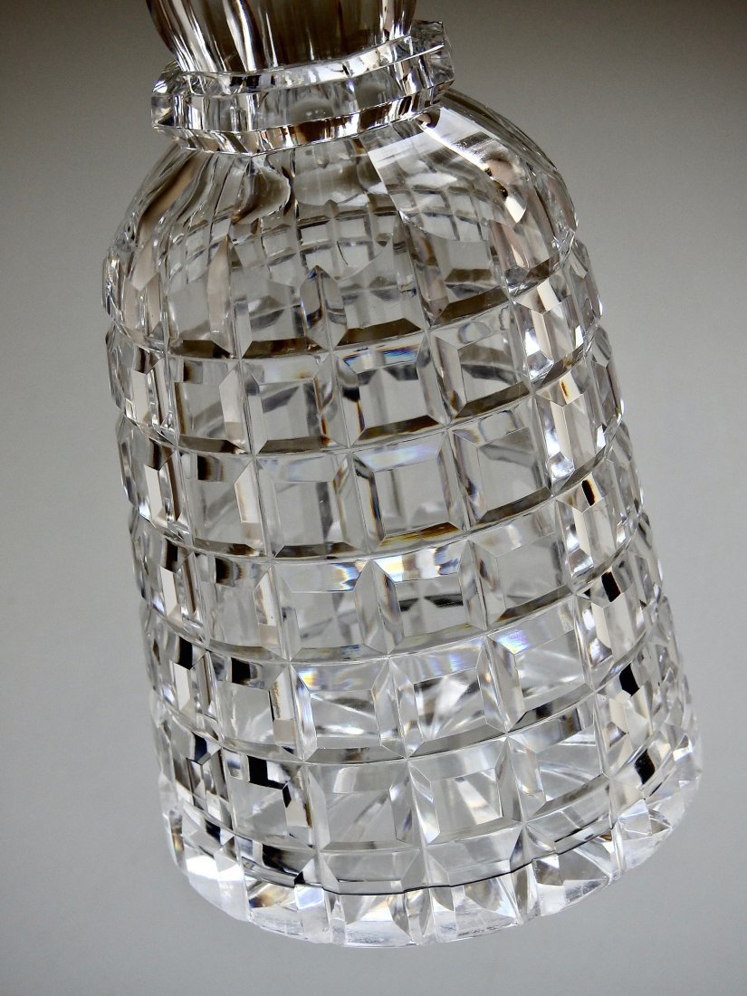 Antique 19thth century Cut Glass Crystal Liquor Decante - 4
