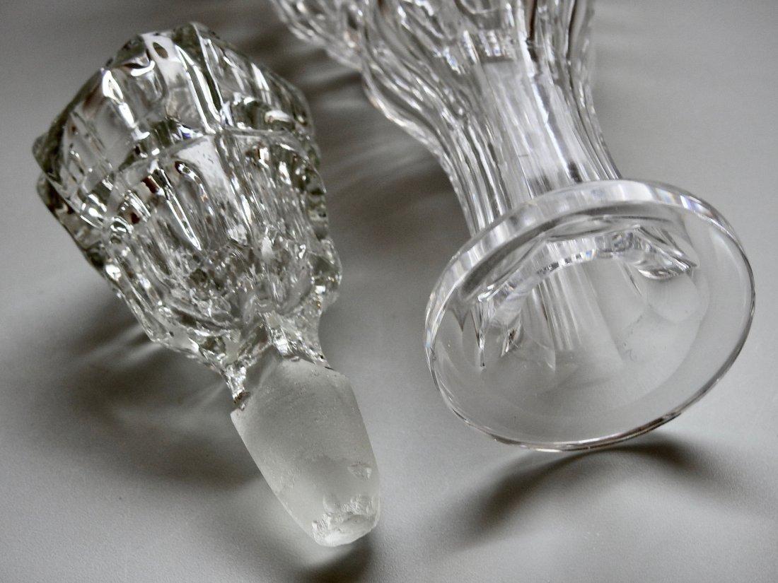 Antique 19thth century Cut Glass Crystal Liquor Decante - 6