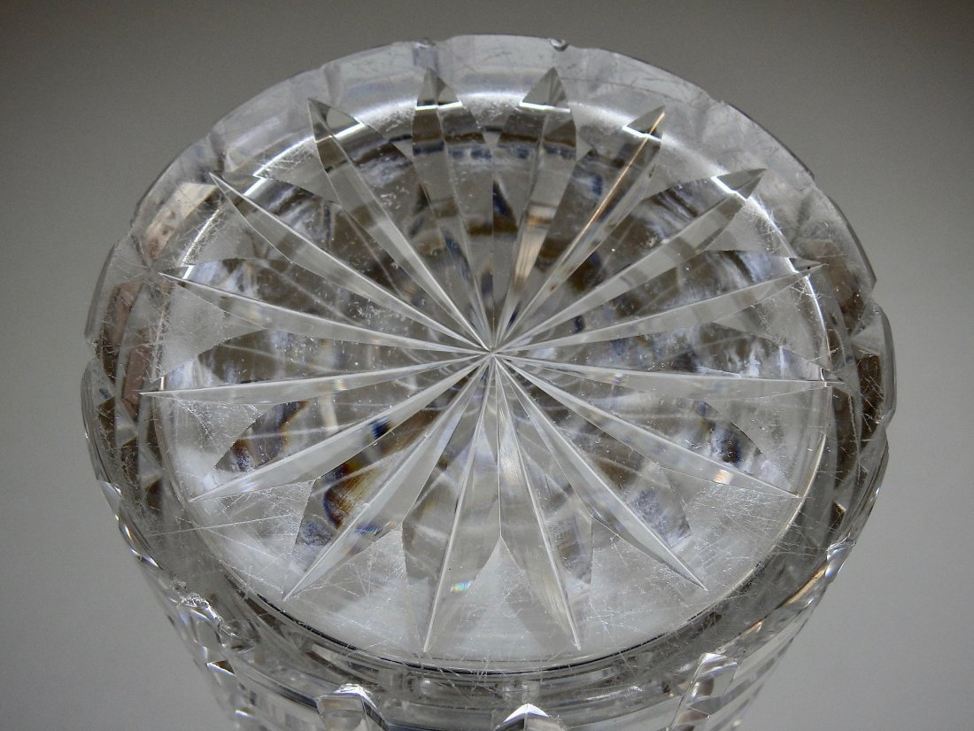 Antique 19thth century Cut Glass Crystal Liquor Decante - 8