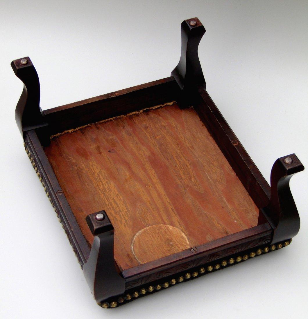 Edwardian Vintage Needlepoint Footstool All Original - 7