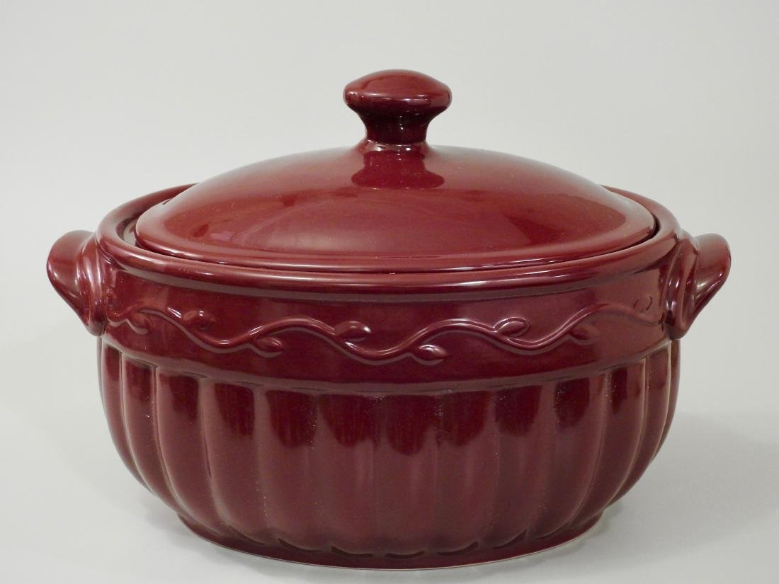 Burgundy Glaze Stoneware Tureen Home and Garden Party