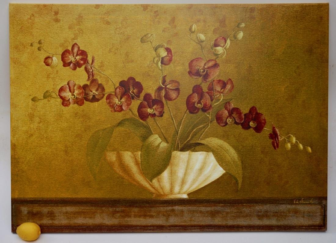 Orchid Signed Modern Art Print On Canvas