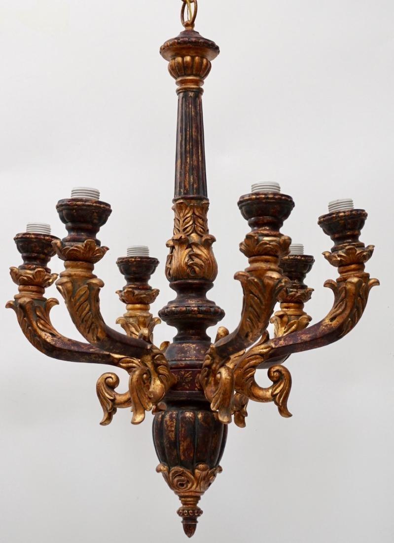 Italian Florentine Baroque Style Chandelier Six Light