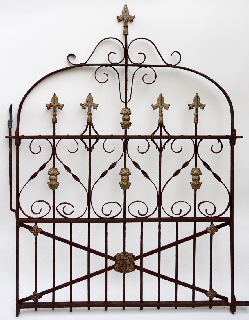 Antique Garden Gate Stewart Iron Works Cincinnati Ohio