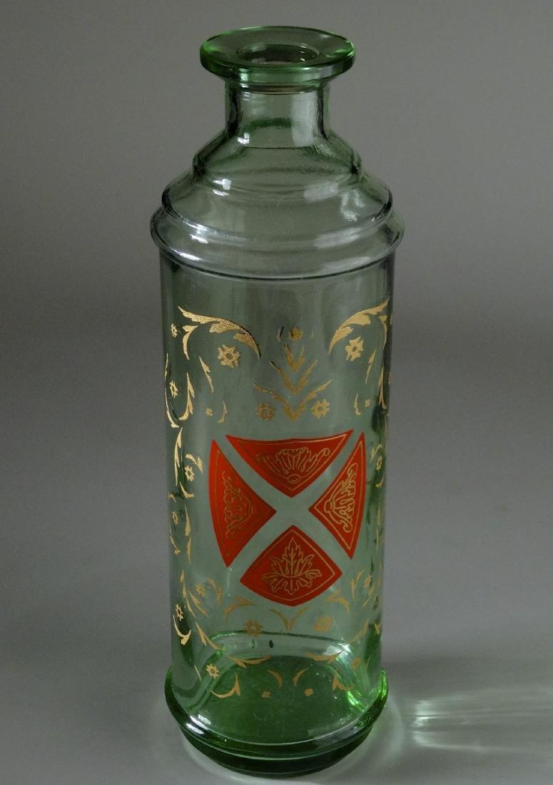 Gothic Style Maltese Crest Enamel Painted Glass Bottle