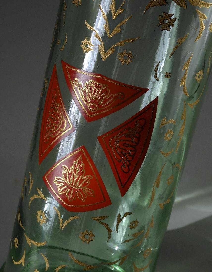 Gothic Style Maltese Crest Enamel Painted Glass Bottle - 2
