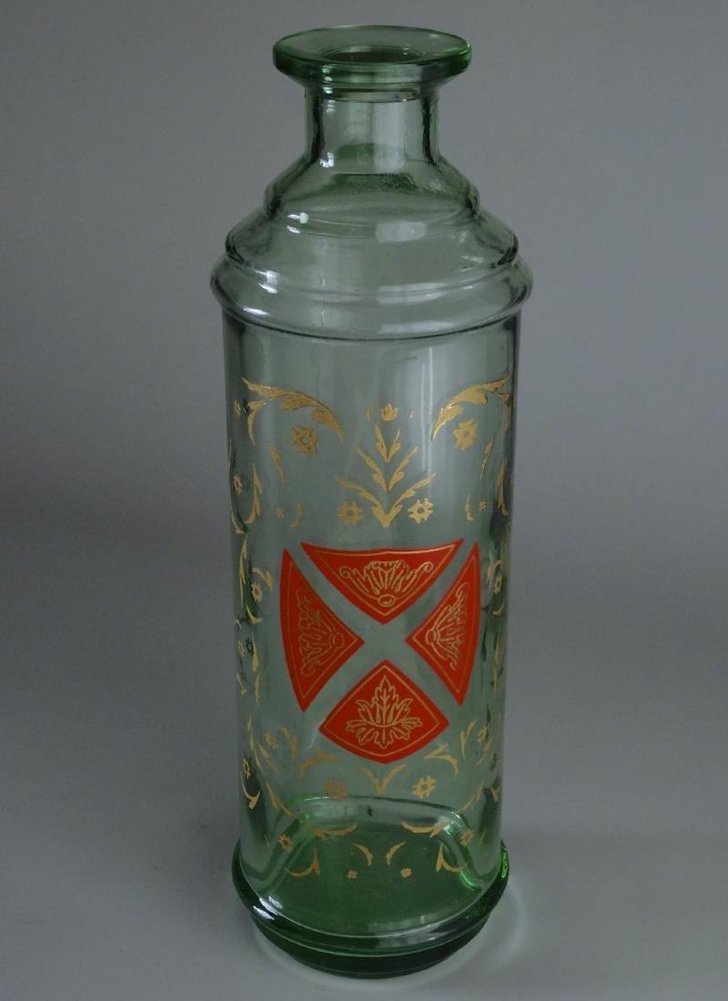Gothic Style Maltese Crest Enamel Painted Glass Bottle - 5