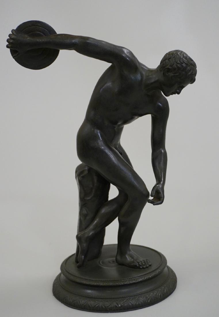 Grand Tour Italian Bronze Sculpture Discus Thrower 19th