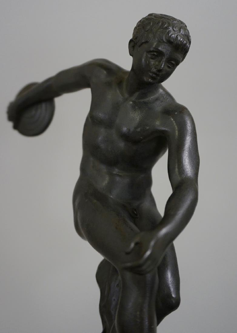 Grand Tour Italian Bronze Sculpture Discus Thrower 19th - 2