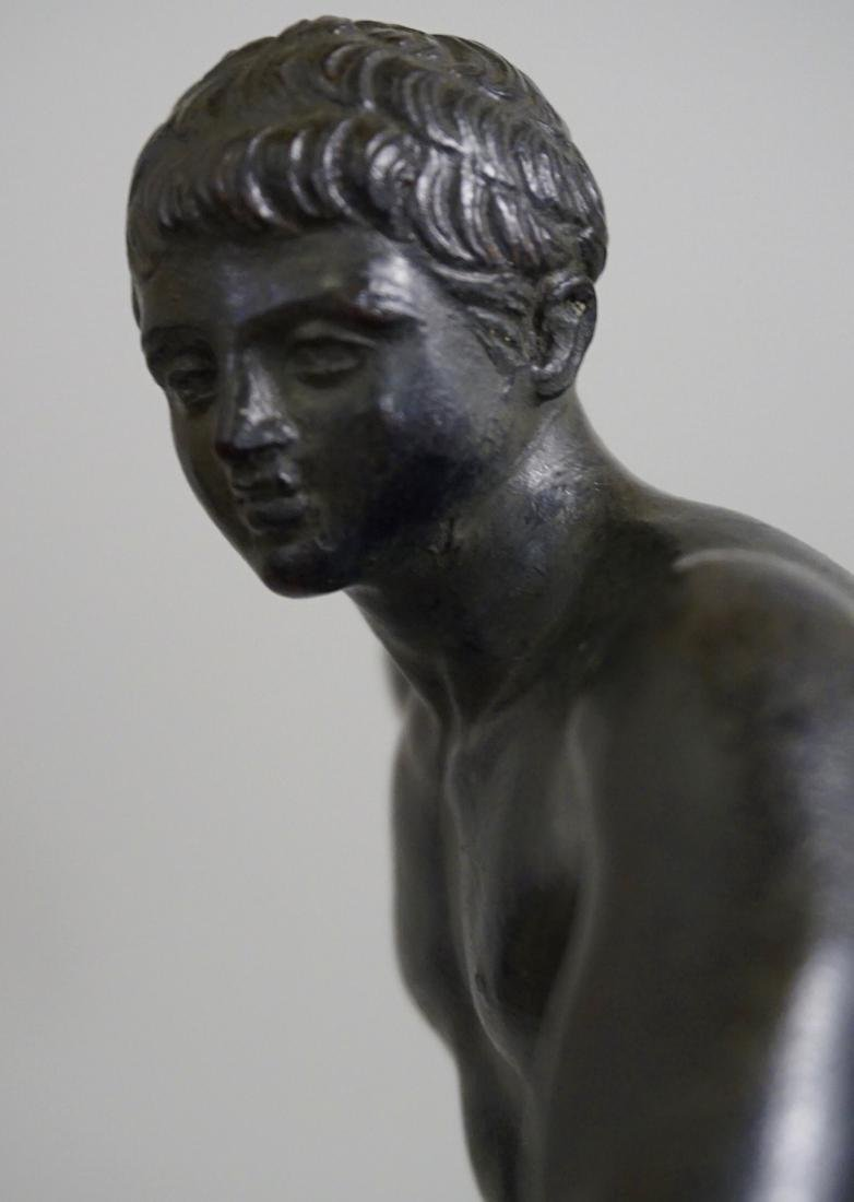 Grand Tour Italian Bronze Sculpture Discus Thrower 19th - 3