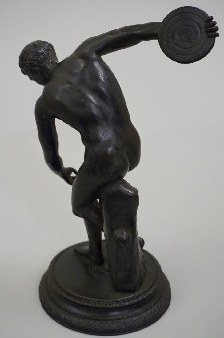Grand Tour Italian Bronze Sculpture Discus Thrower 19th - 5