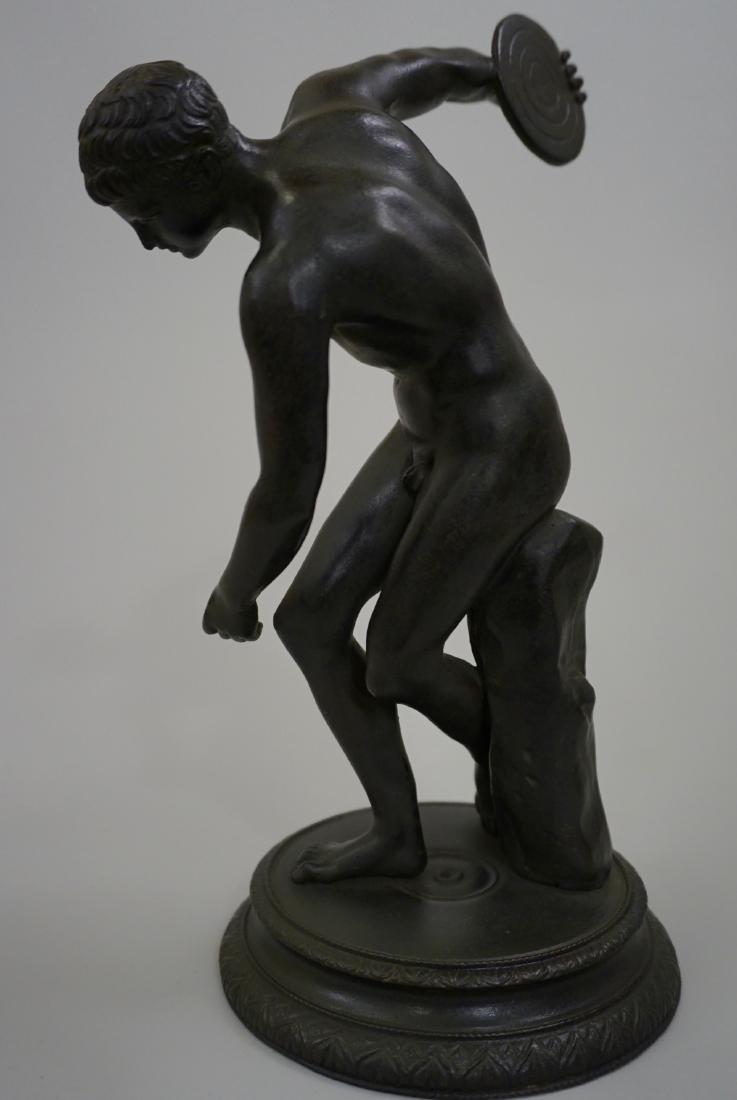 Grand Tour Italian Bronze Sculpture Discus Thrower 19th - 6