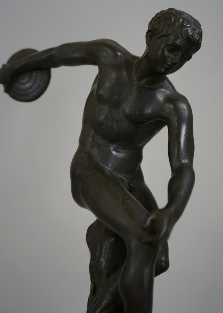 Grand Tour Italian Bronze Sculpture Discus Thrower 19th - 7