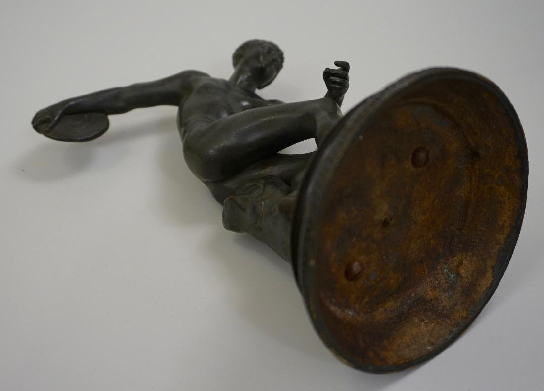 Grand Tour Italian Bronze Sculpture Discus Thrower 19th - 8