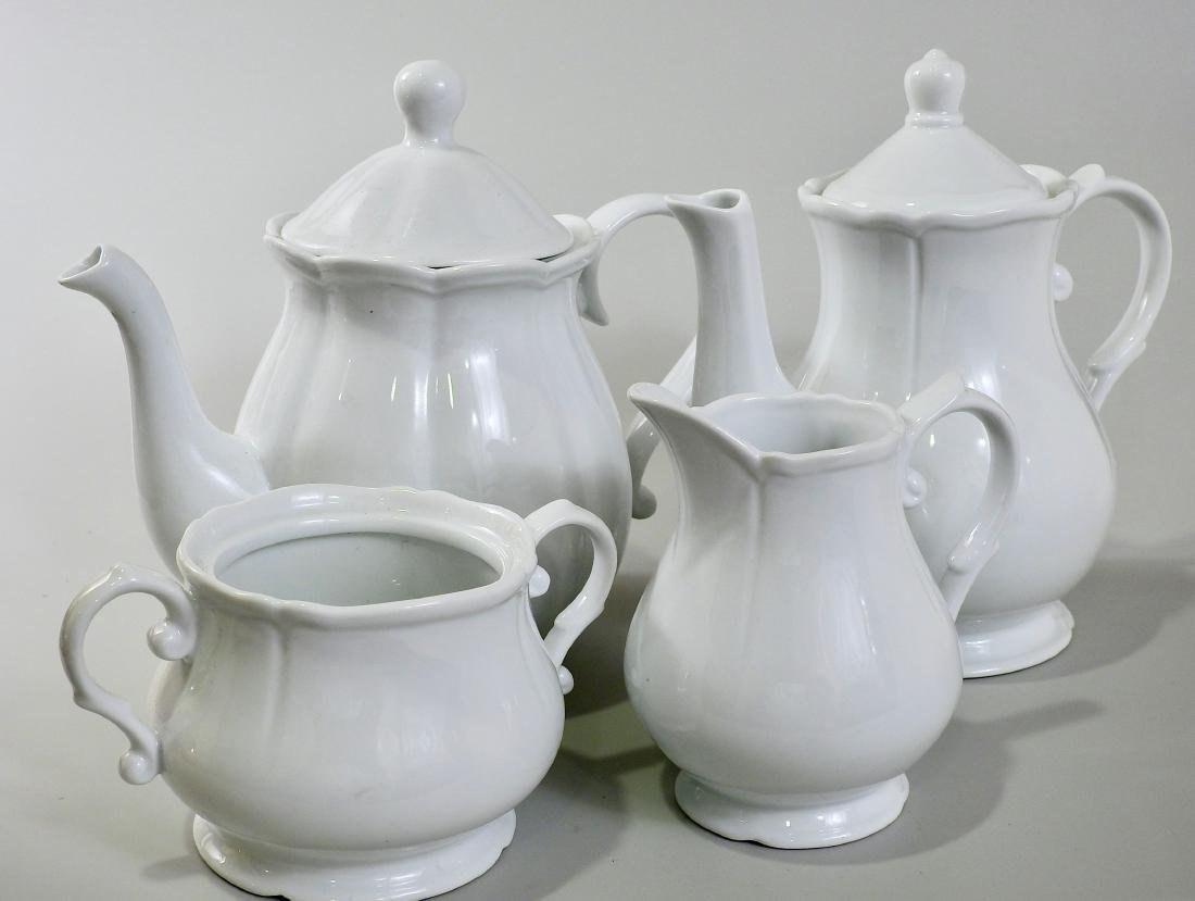 White Blanc De Chine Tea Coffee Set Creamer Sugar Lot