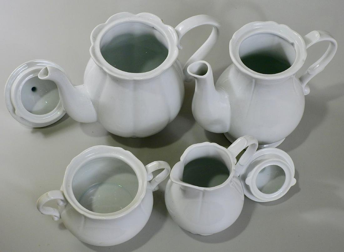 White Blanc De Chine Tea Coffee Set Creamer Sugar Lot - 2