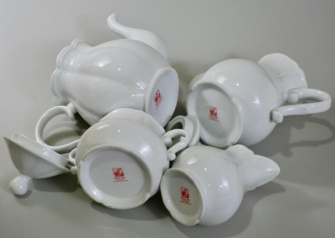 White Blanc De Chine Tea Coffee Set Creamer Sugar Lot - 3
