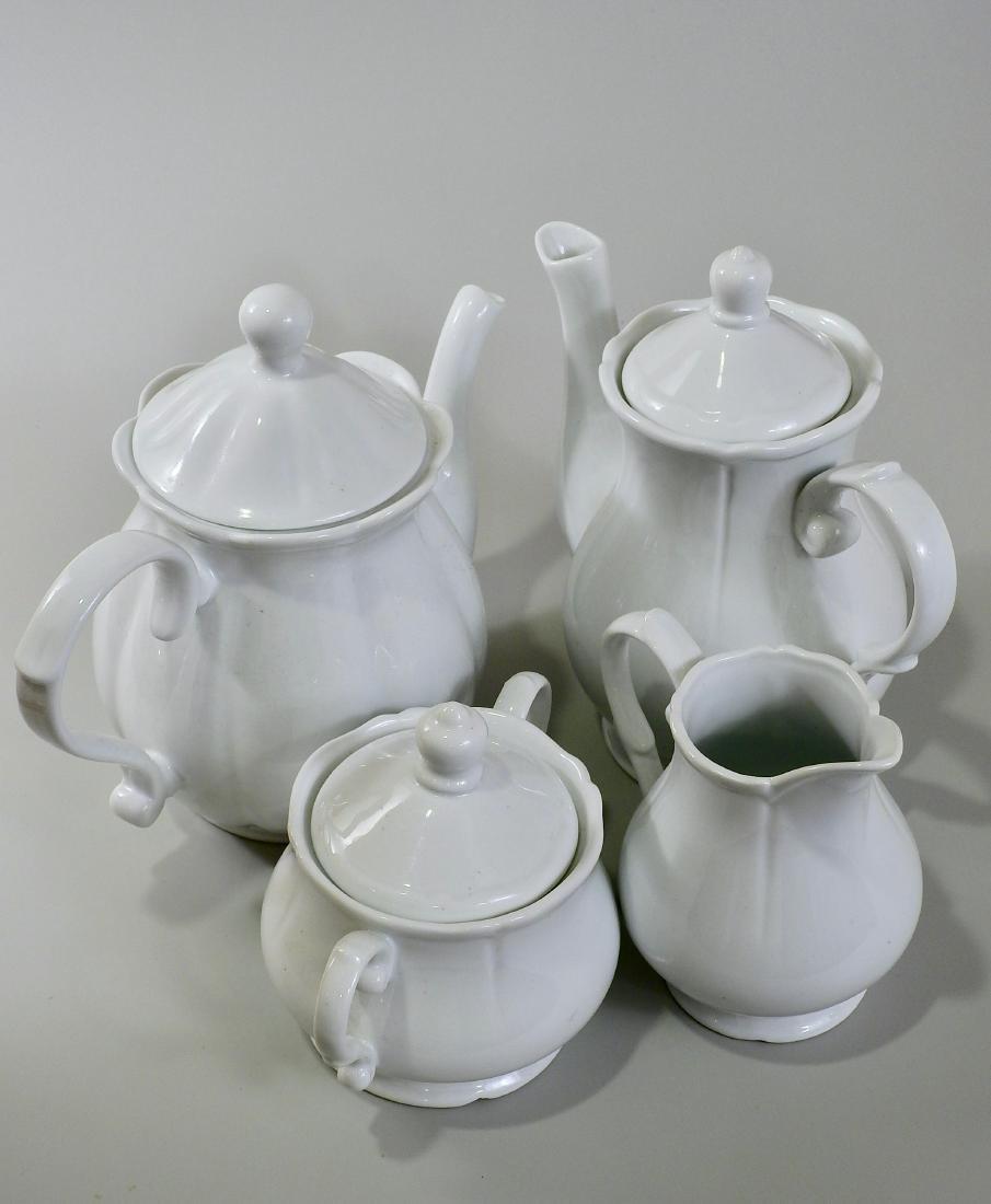 White Blanc De Chine Tea Coffee Set Creamer Sugar Lot - 4