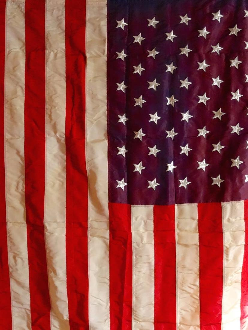 Vintage American Flag USA with Fringe and Tassels Never