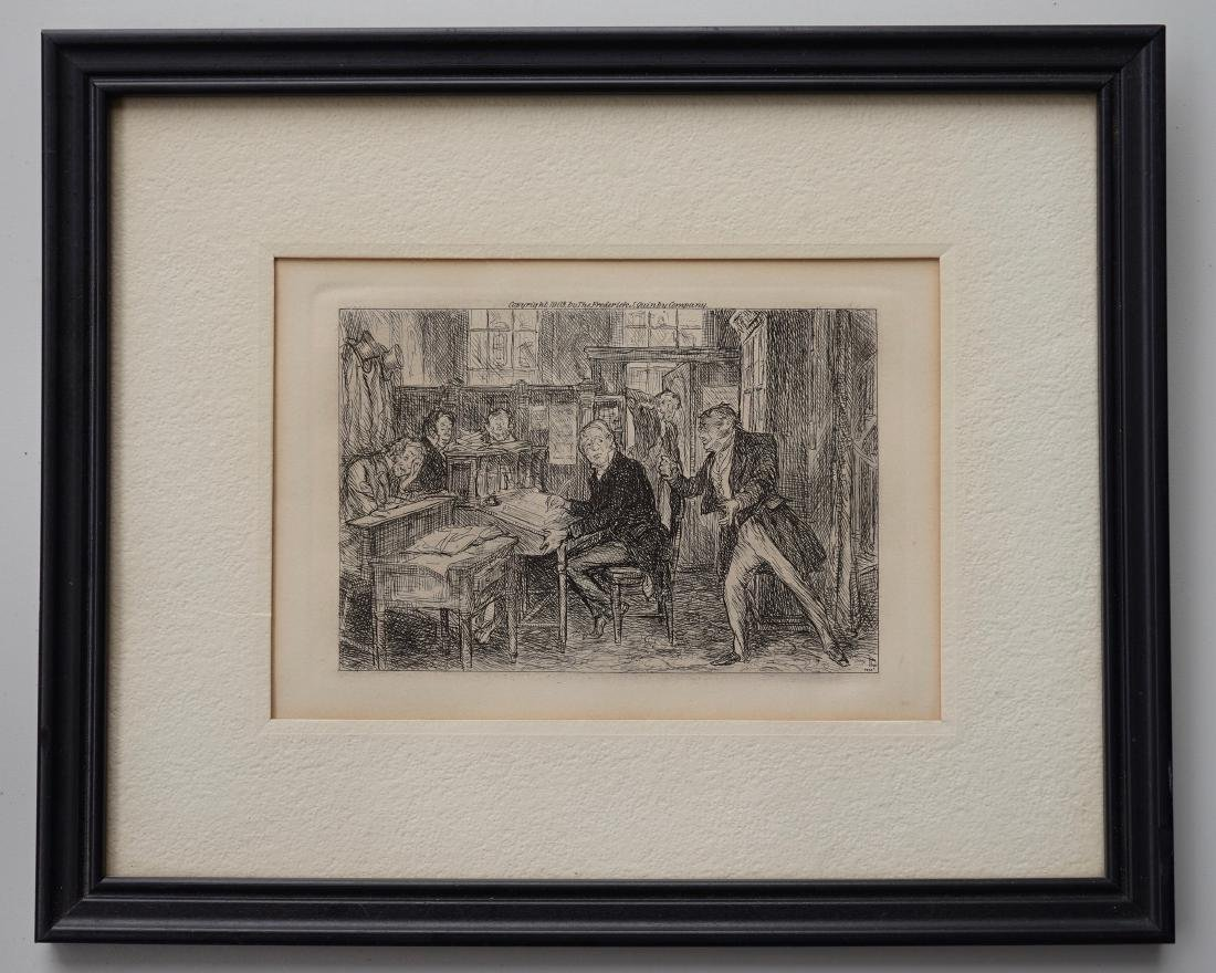 John Sloan Engraving Antique Print Copyright 1903
