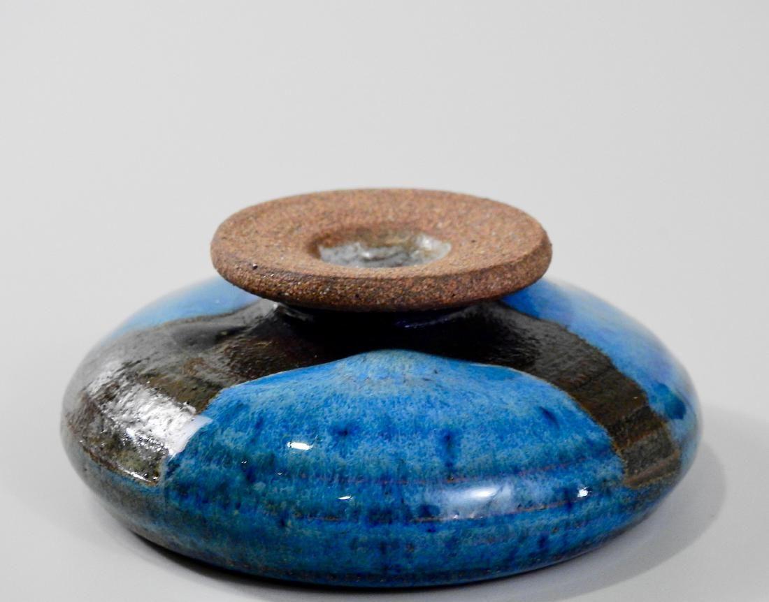 Mid Century Modernist Blue Glazed Art Pottery Cabinet