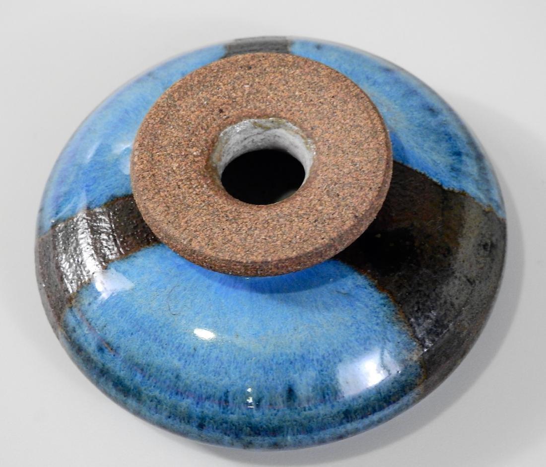 Mid Century Modernist Blue Glazed Art Pottery Cabinet - 2