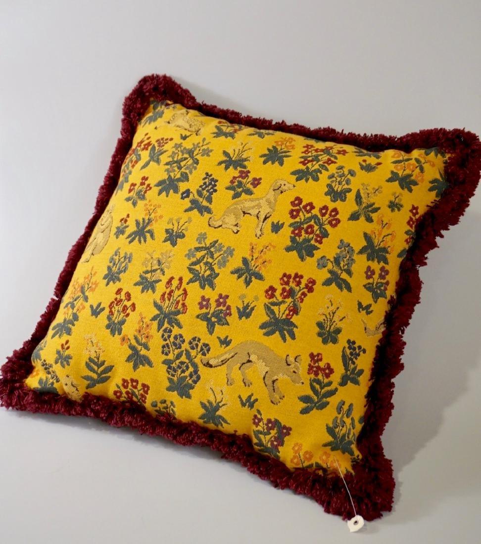 Lot of 2 Designer Pillows Envelope Tassel Monkey Tinsel - 2